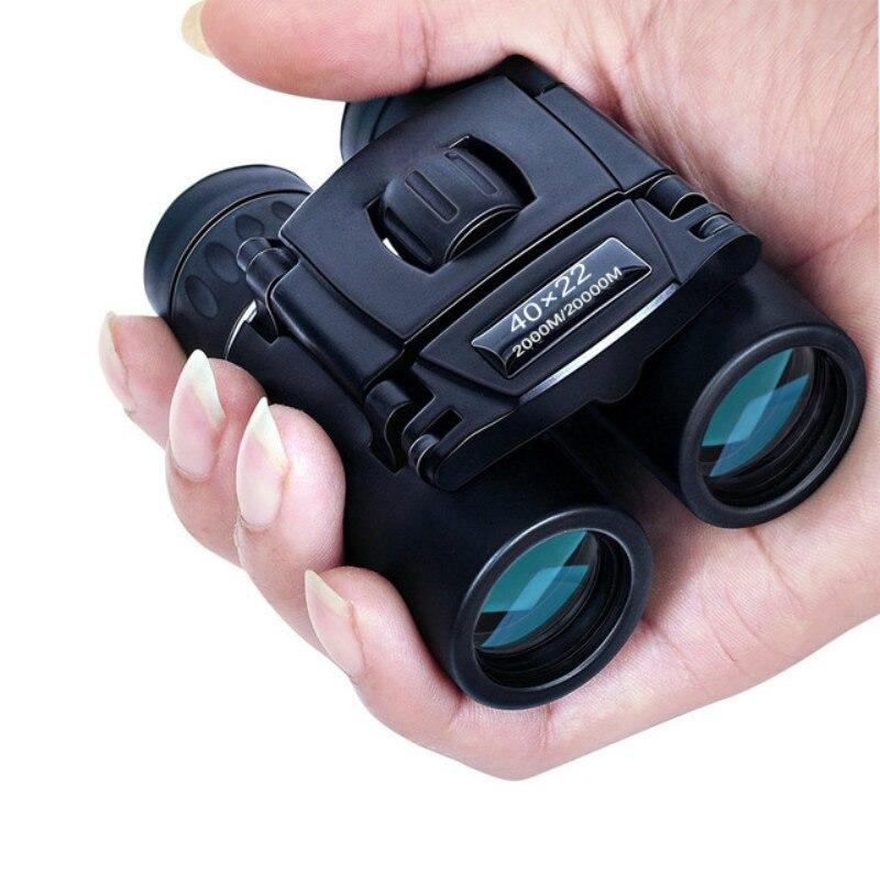 40x22 HD Leistungsstarke Fernglas 2000M Lange Bereich Folding Mini Teleskop BAK4 FMC Optik Für Jagd Sport Outdoor camping Reise