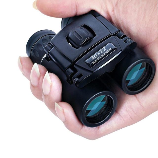 40x22 HD jumelles puissantes 2000M longue portée pliant Mini télescope BAK4 FMC optique pour les Sports de chasse Camping en plein air voyage
