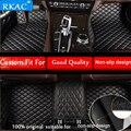 RKAC автомобильные аксессуары на заказ коврики для ног 3D роскошные кожаные автомобильные коврики для ford mustang 2015-2019 stciker водонепроницаемые без ...
