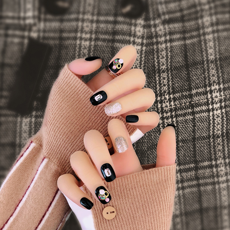 Fake Nails Stickers Women's 2018 New Style Online Celebrity Manicure Patch Disassembly Students Wearable Pregnant Women Model Na