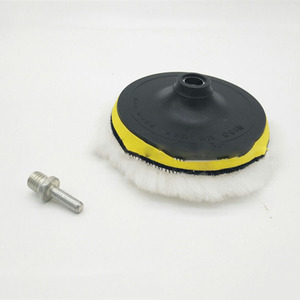 Image 5 - 5/6/7 inç araba sünger parlatma diski kendinden yapışkanlı yün parlatma tekerleği yorgan yün tavşan kürk topu tampon