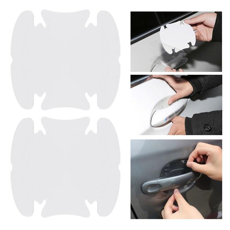 4 pçs película protetora clara porta do carro lidar com filmes adesivo protetor de tela automática anti risco proteger acessórios