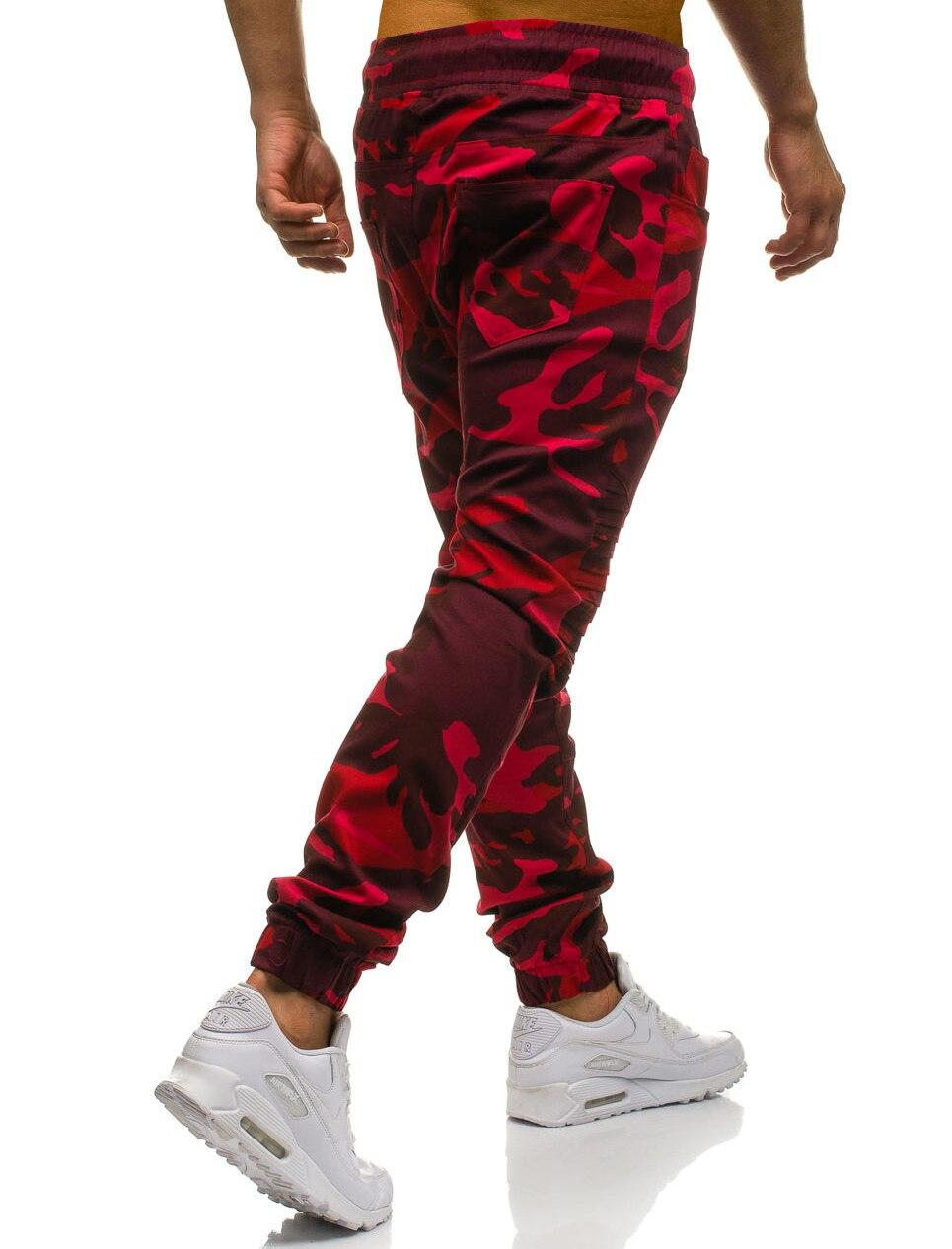 Men Sweatpants Casual Pants Slim fit Drawstring Sweatpants Slacks Elastic Waist Patchwork Pleated Ultrathin Male Trousers Jogger 20