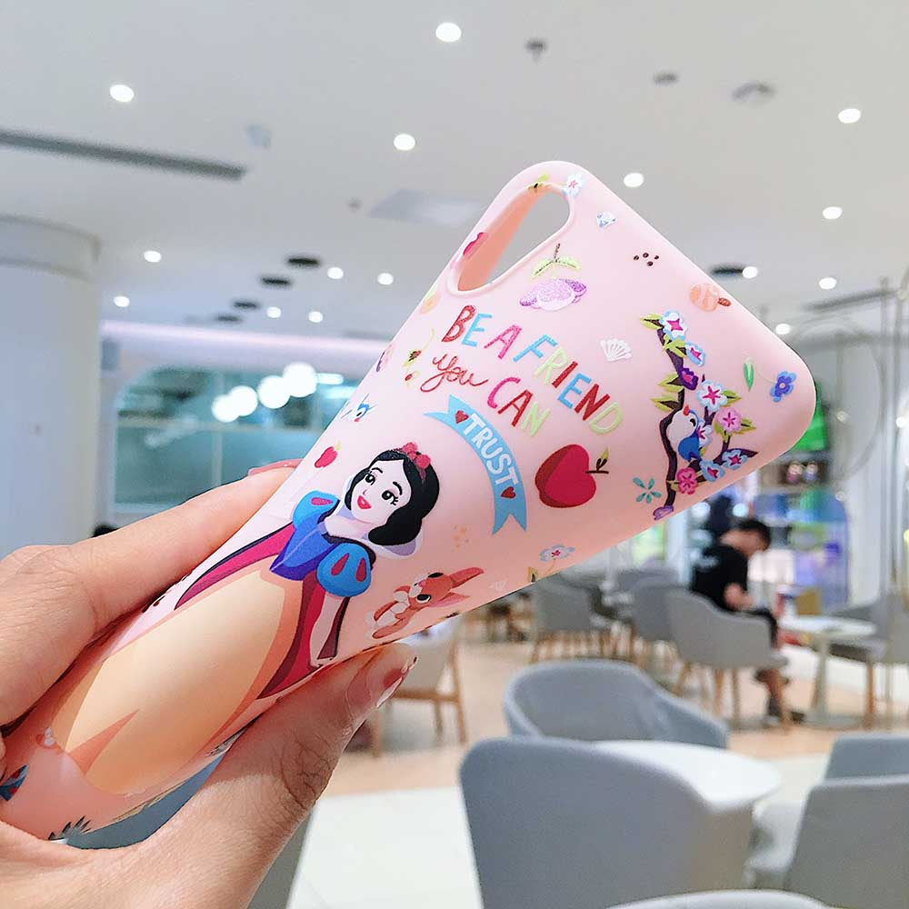 Cartoon Princess Phone Case Cute Soft Cover For iPhone 6 6s 7 8 Plus X XS XR XSMax in Half wrapped Cases from Cellphones Telecommunications