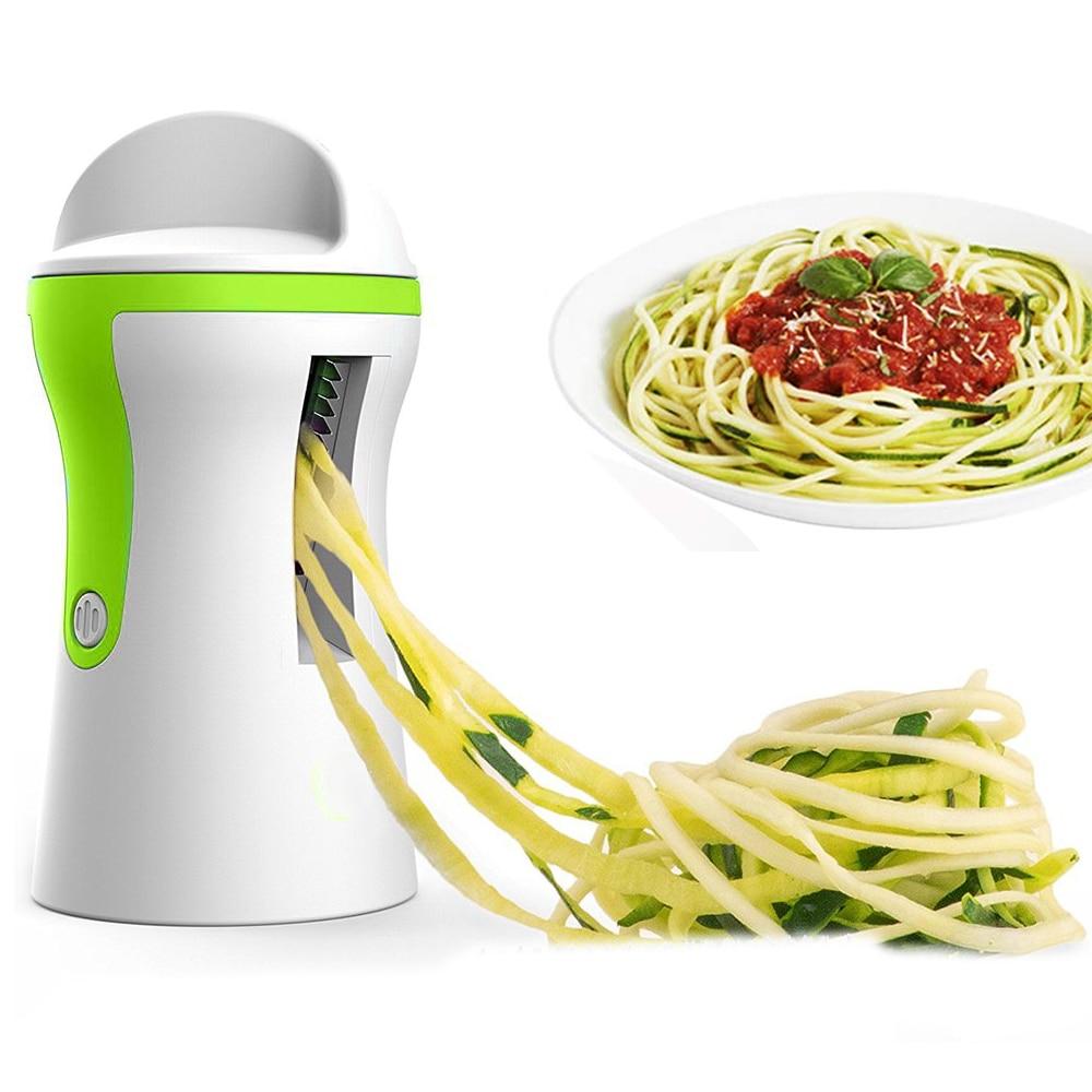 Овощерезка, ручной спиральный очиститель, портативный спиральный слайсер, спиральный слайсер из нержавеющей стали для картофеля, спагетти,...