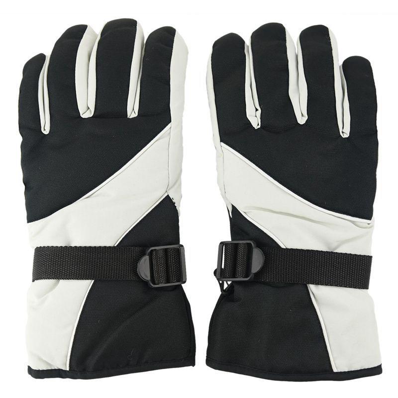 Men Ski Gloves Thermal Waterproof For Winter Outdoor Sports Snowboard (Grey)