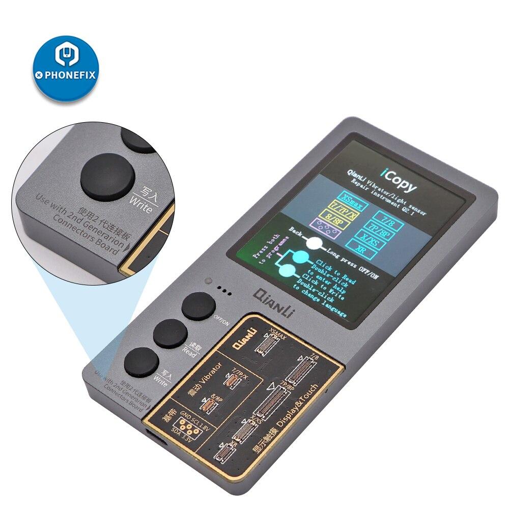 Image 2 - Qianli icopy plus display lcd eeprom programador para iphone 7 8 p x xr xs max 11 pro max fotossensível vibração reparação da bateriaConjuntos ferramenta manual   -