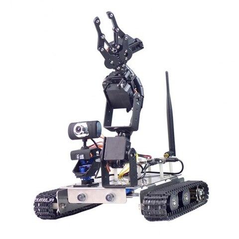 robo programavel diy wifi bluetooth carro educacional chassis pista tanque de vapor de aco inoxidavel