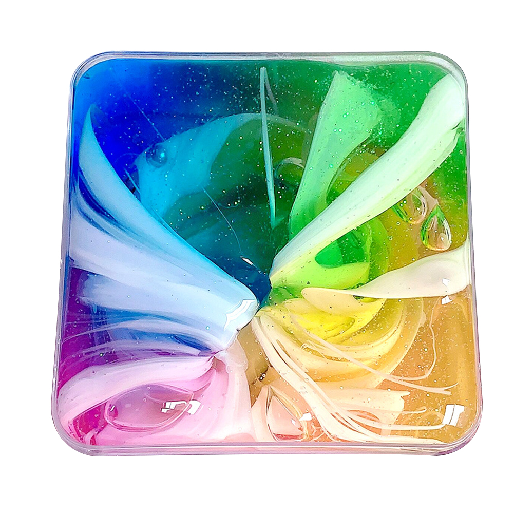 Transparent Funny Stress Relieve Non Toxic Safe Cloud Slime 3D Galaxies Educational DIY Super Soft Kids Toy Colorful