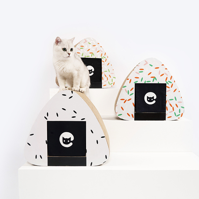 Gatto di Casa Estate Chiuso Ondulato di Carta di Riso Gruppo Gatto di Casa Villa Gatto di Casa Graffio di Gatto Del Cane Nido Forniture Gatto Gatto letto di Casa - 2