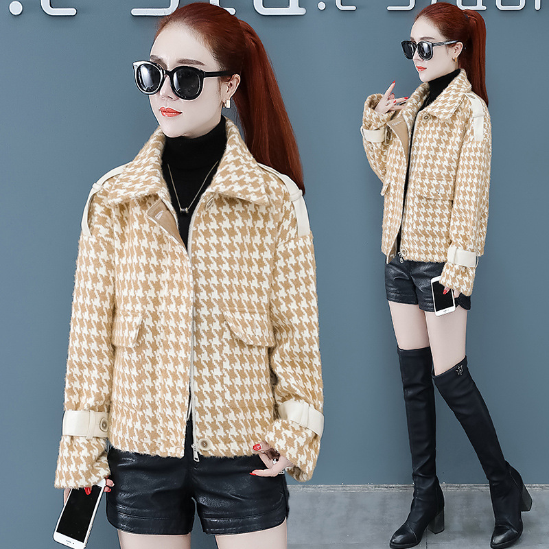Women's New Products Fashion Casual Coat 2019 Winter Style Korean-style Elegant Cardigan Fold-down Collar Faux Mink Cashmere Coa