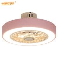 50 cm Macaron Ceiling Fan Modern Restaurant Bedroom Ceiling Fan with Light 220V Remote Control Dimming Decora Lovely Fan Lamp