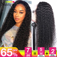 360 Lace Frontal Wigs Jerry Curly Human Hair Wigs Brazilian Hair Remy Lace Wig Nicelight 150% Density Lace Wig For Black Women(China)