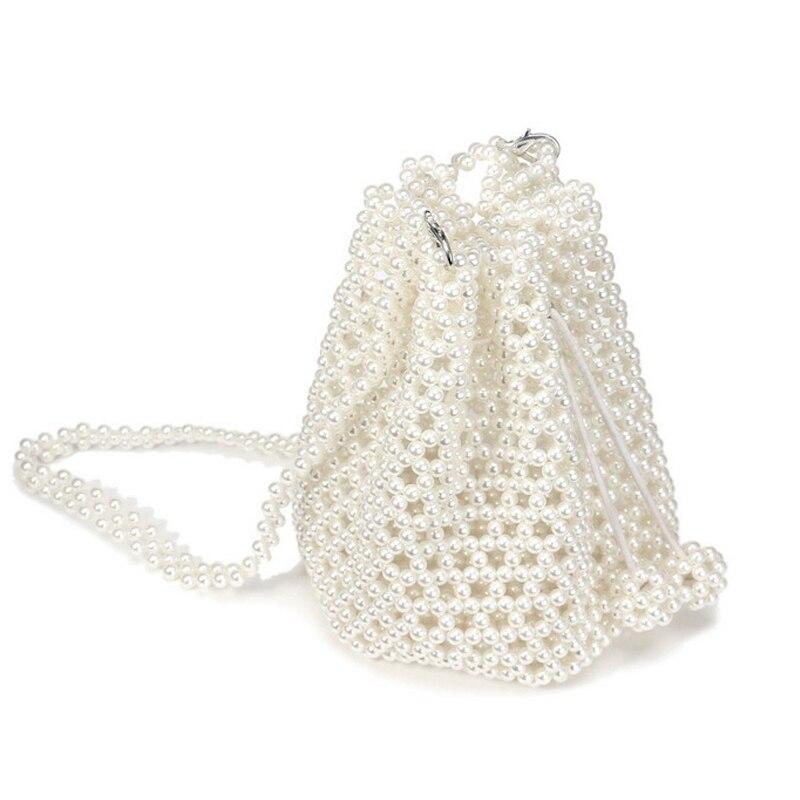 Pochette de soirée femmes sacs sacs à main de mariage perle perlée boîte fourre-tout sac seau fête pochettes sac dames sac à bandoulière portefeuilles