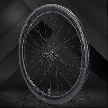 Elite SLR углеродное волокно автомобильный велосипед колесо прямого оттягивания низкосопротивления керамическая ступица 25 / 27 мм ширина трубы без внутренней оболочки 700C колесная пара