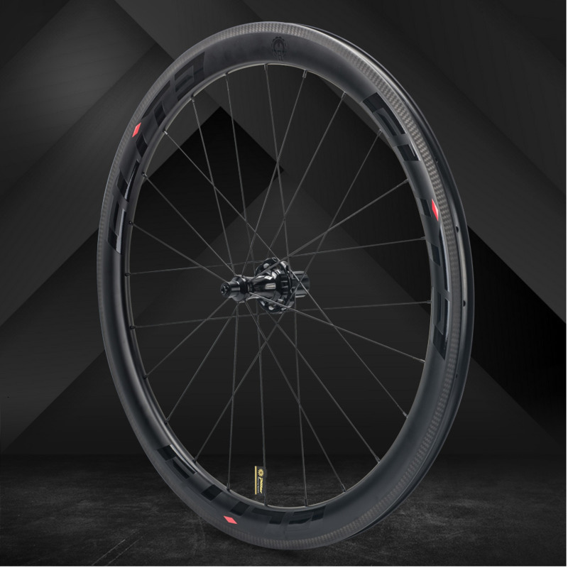 Elite SLR Carbon Road Bike <font><b>Wheel</b></font> Straight Pull Low Resistance Ceramic Hub 25/27mm Wider Tubular Clincher Tubeless <font><b>700c</b></font> Wheelset image