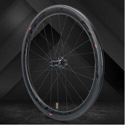 Elite SLR carbono rueda de bicicleta de carretera tiro recto Cubo de cerámica de baja resistencia 25/27mm más ancho Tubular Clincher Tubeless 700c rueda