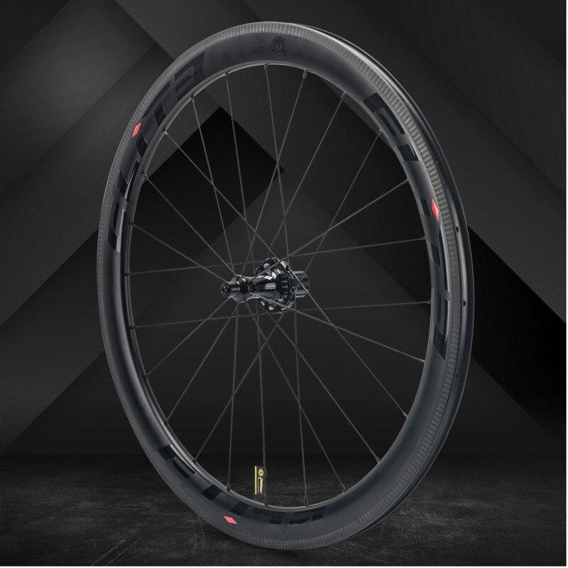 Elite slr carbono roda de bicicleta estrada tração reta baixa resistência cerâmica hub 25/27mm mais amplo tubular clincher tubeless 700c rodado