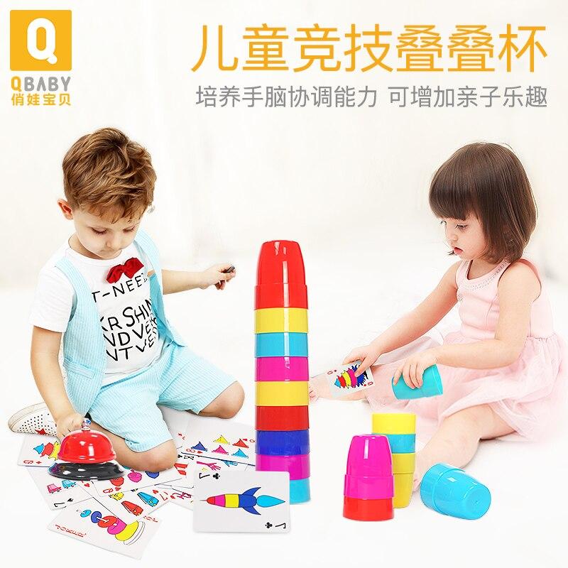 Bebê empilhando copos brinquedo crianças urso brinquedos da criança arco-íris cor aprendizagem dobrável copo brinquedos educativos do bebê