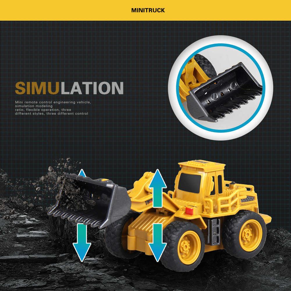 1: 64 Mini RC bau auto Mit box 2,4G Traktor Bulldozer Loader Bagger Simulation Modell Elektronische auto Spielzeug für kinder