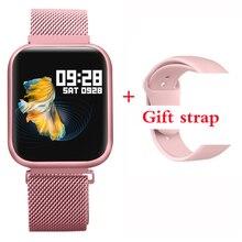 Lerbyee P80 חכם שעון עמיד למים קצב לב צג כושר שעון שיחת תזכורת ספורט Smartwatch שינה צג pk W46 FK88