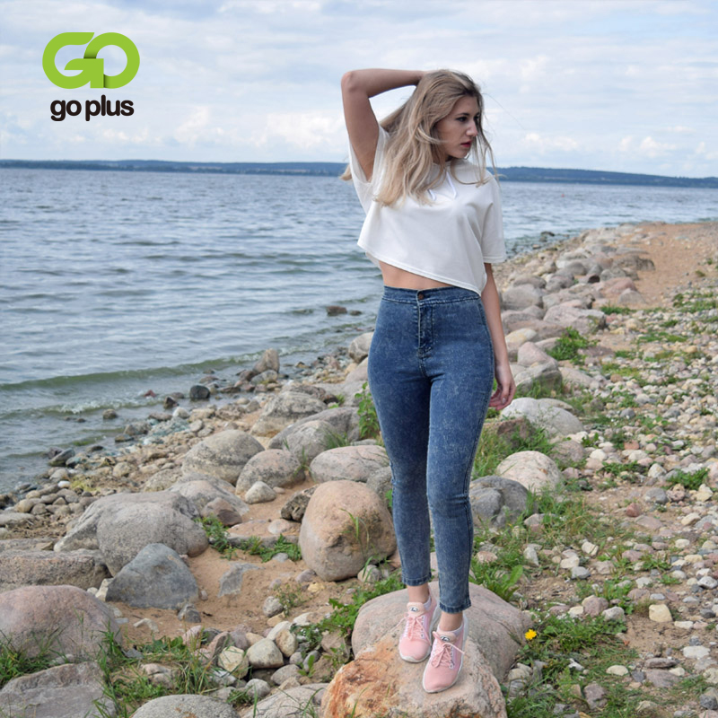 GOPLUS Korean Style Jeans Women High Waist Skinny Jeans Woman Pencil Denim Pants Ladies Black Jeans Femme Tallas Grandes Mujer