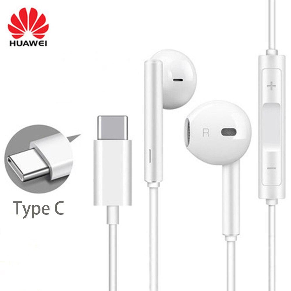 Оригинальные наушники Huawei CM33 USB Type-C в ухо Hearphone гарнитура микрофон громкость Huawei Mate 10 20 Pro 20 X RS P 10 20 30 Note 10