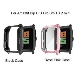 Image 5 - Watchband Case For Xiaomi Amazfit GTS 2 Mini Bip U Pro S Lite Strap Touch Screen Protector Milanese Stainless Steel Wristband