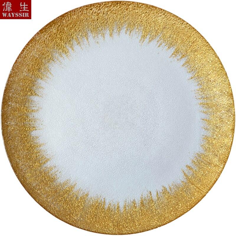 13 дюймов круглые Серебристые золотистые наклейки прозрачная