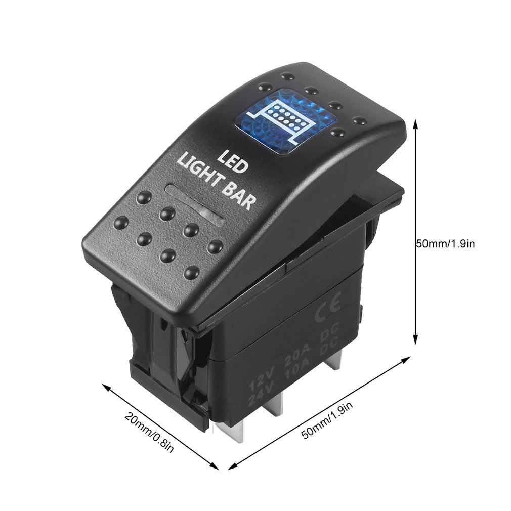 12V 20A Bar Carling bascule interrupteur lumière bleue LED voiture bateau ventes 5 broches sortie Protection de Circuit Protection contre les surcharges