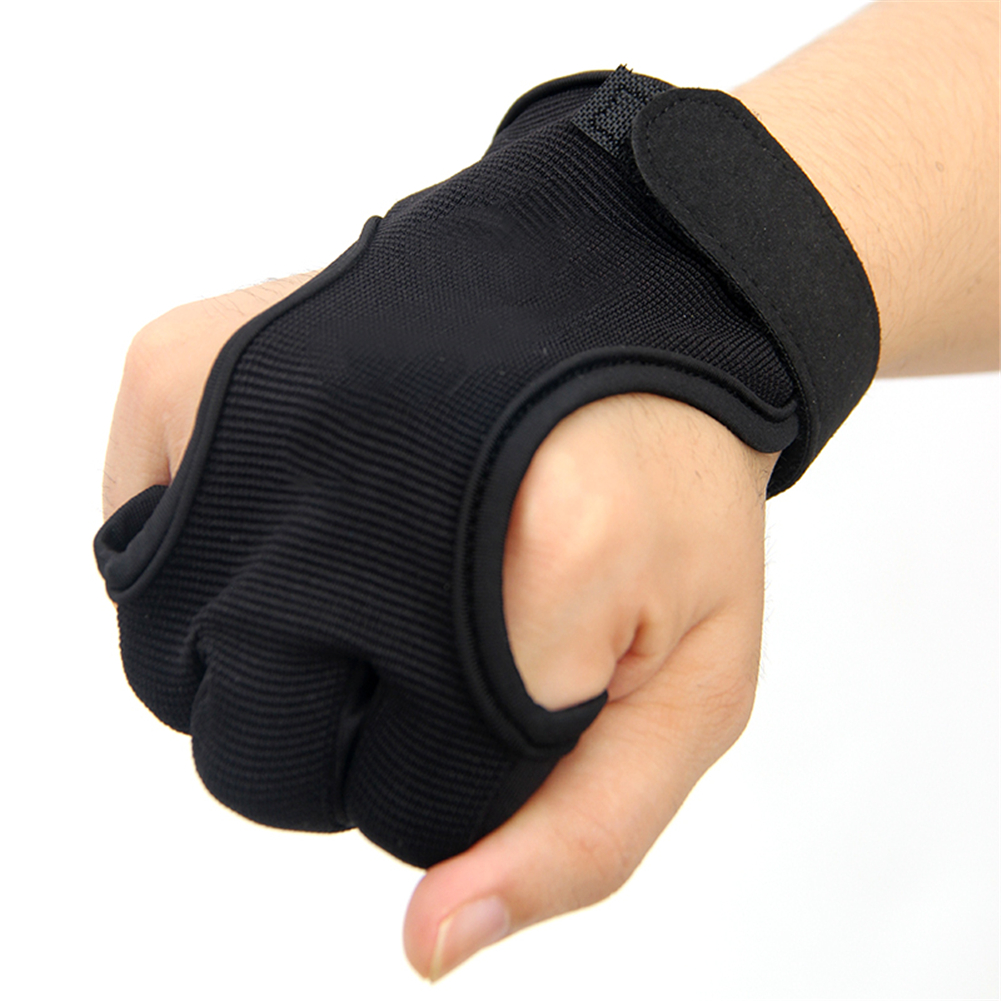 Three Finger Archery Protector Bow Shooting Glove 4
