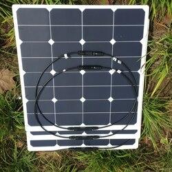 High efficiency Sunpower cell Semi Flexible solar panel 50W 100W  for car, boat,roof