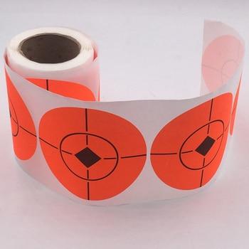 100 piezas de adhesivo de blanco de tiro de blanco salpicaduras de blanco reactivo adhesivo 7,5 cm herramientas de práctica de disparo