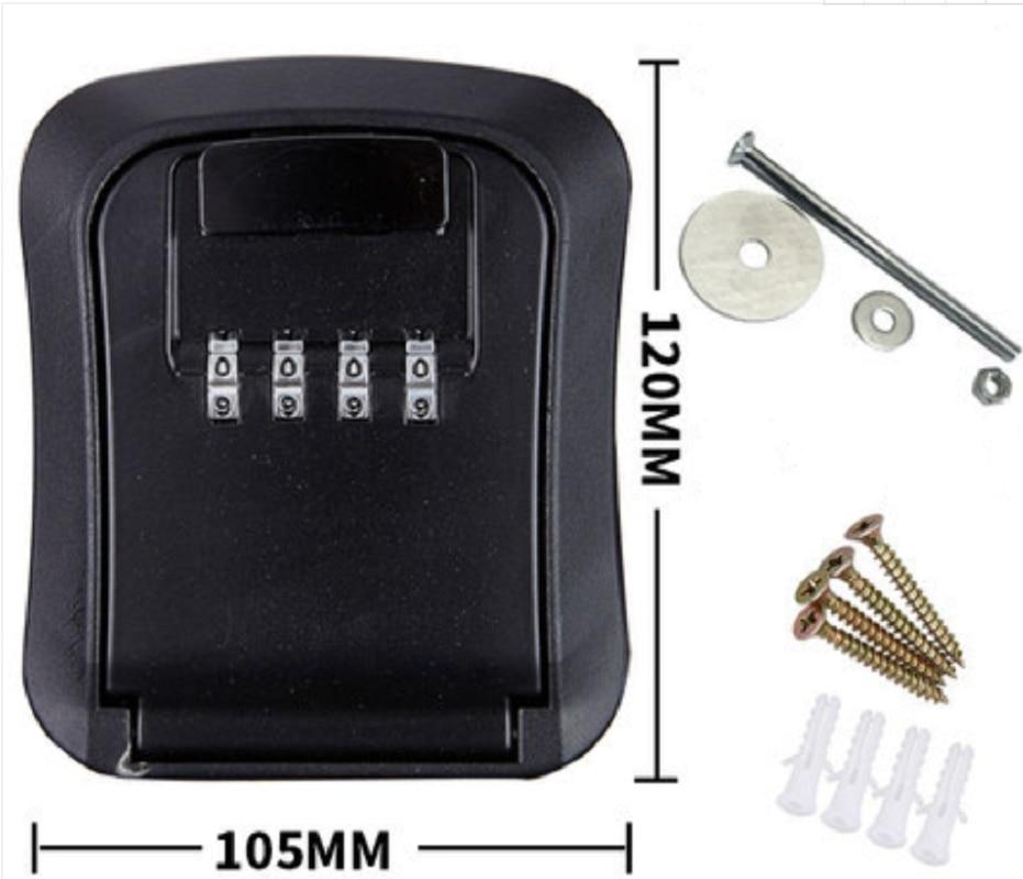 New Wall Mounted Lock Box Key Storage Lock Box 4-Digit Combination Lock Box Key Safe Box Security Key Holder Cofre Caja Fuerte