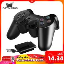 データカエルワイヤレスゲームゲームパッド用PS3/PS2コントローラジョイスティックPlaystation2/3用のwindowsのアンドロイドスマートテレビボックスtv/tvボックス