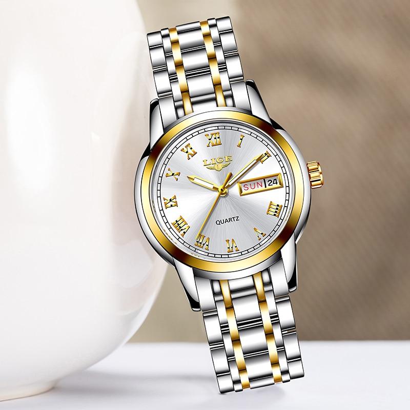 Bracelet Watches Clock Female Creative Waterproof Women's Ladies LIGE Relogio Feminino