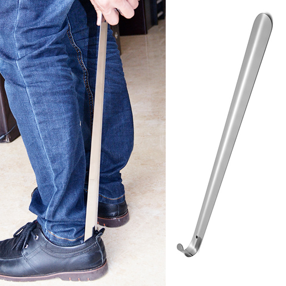 Adults Home Stainless Steel The Aged Remover For Pregnant Lifter Aid Slip Handle Heavy Duty Durable Kids Long Shoe Horn Portable