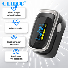 OLIECO Finger Pulse Oximeter Sleep Child Adult SPO2 PR PI RR Monitor Household Blood Oxygen Saturate OLED Oximetro Abnormal Alam