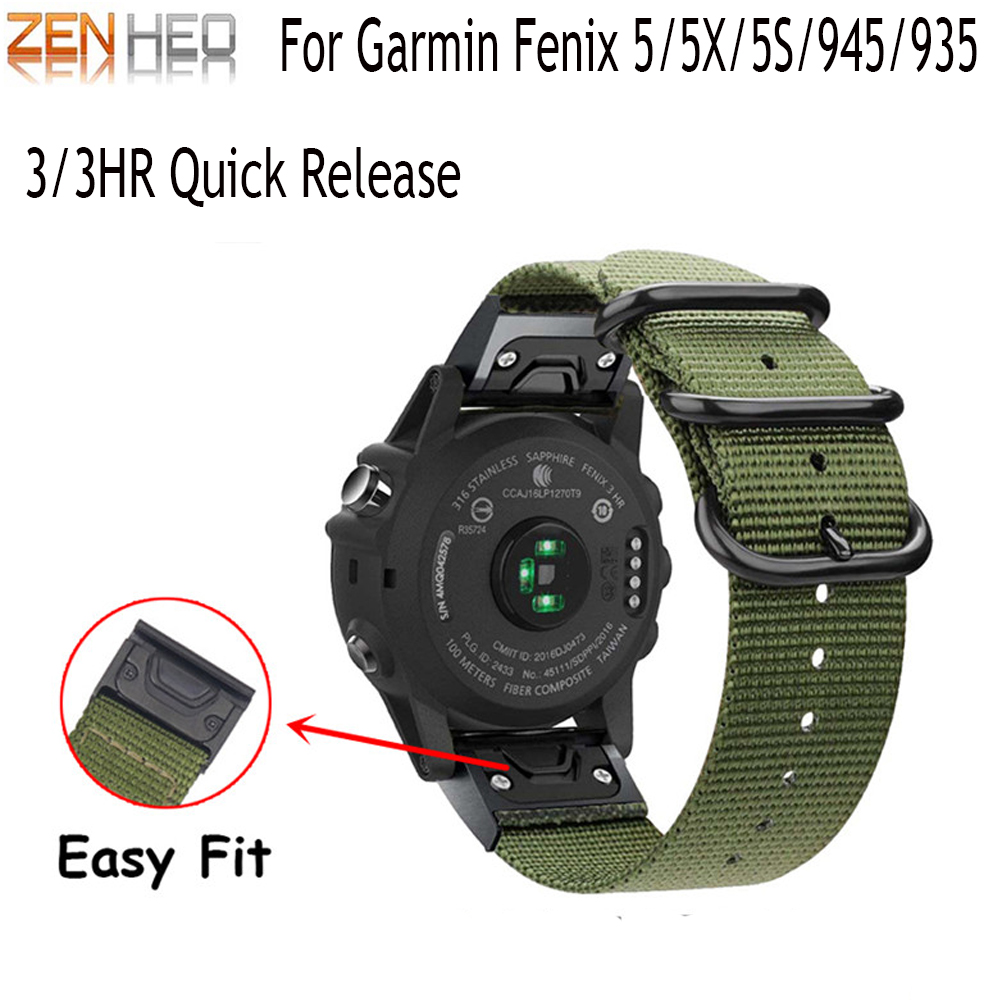 26 22 20mm Watchband For Garmin Fenix 5X 5 5S Plus 3 3 HR Forerunner 935/945 Watch Quick Release Silicone Easy Fit Wrist Bands