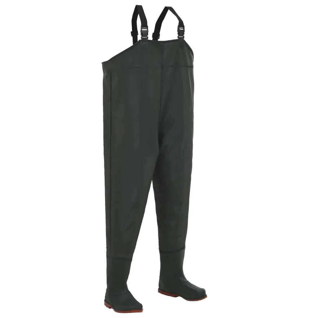 VidaXL Wading Pants With Boots Green Size 45 133660 Fly Fishing Chest Waders Hunting Wading Pants Waterproof Wader Pants