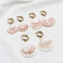 Natural shell earrings beach resort temperament