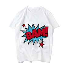 Superhero Comic Sound Effects Short Sleeve Round Neck T-shirt Summer Women Casual Cotton Short-sleeve Funny Tshirt Ms Tees