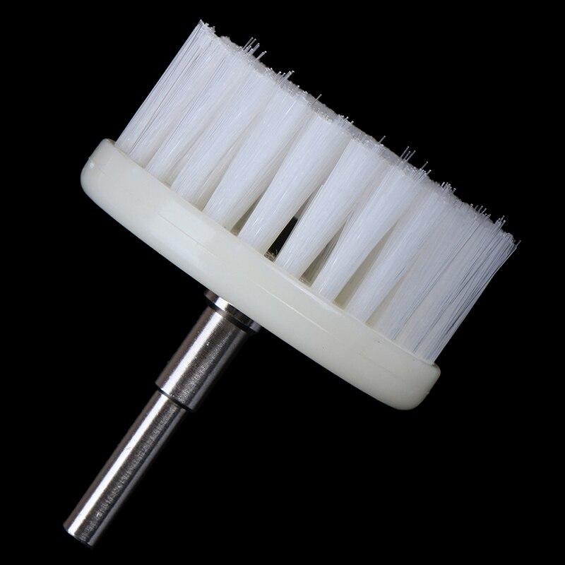 Белая мягкая дрель 60 мм с питанием от щетки, головка для чистки автомобильных ковров, ткань для ванны