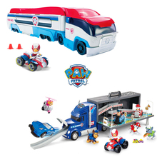 Original Paw Patrol Dog Juguetes 40cm Bus Transporter Car Set Action Figures Model Patrulla Canina Toys for Children Gifts