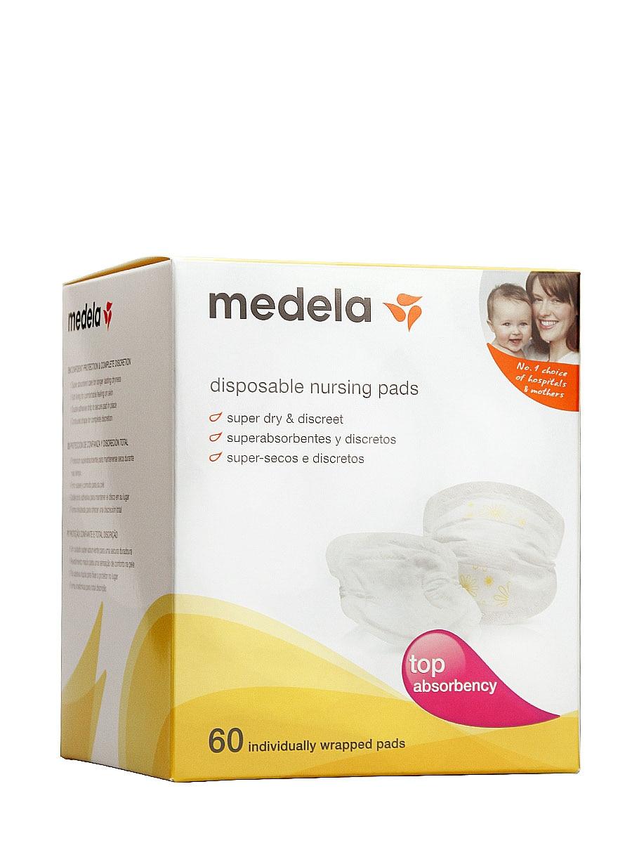 Одноразовые абсорбирующие диски Medela, 60 супер абсорбирующих и дискретных блоков