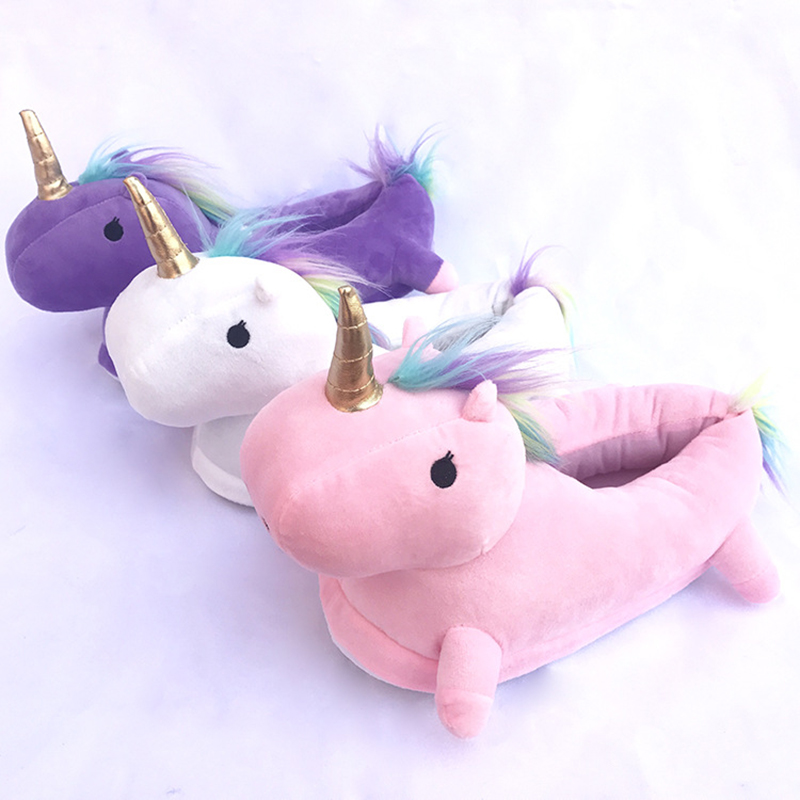 Kigurumi Unicorn Slippers Cartoon Animal Claw Onesies Pajama Shoes Kid Adult Kawaii Funny Casual Style Cosplay Prop Party Wear