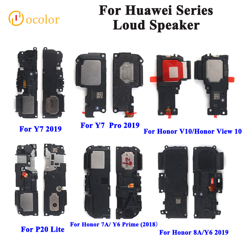 Ocolor For Huawei Y7 Pro 2019 Honor 8A V10 Loudspeaker For Huawei  P20 Lite Y6 Prime 2018 Buzzer Ringer Flex Replacement Parts