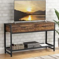 Tribesigns Rustic TV Stand for 55 inch TVs, Industrial TV Console Media Stand Entertainment Center with Drawers and Storage Shel