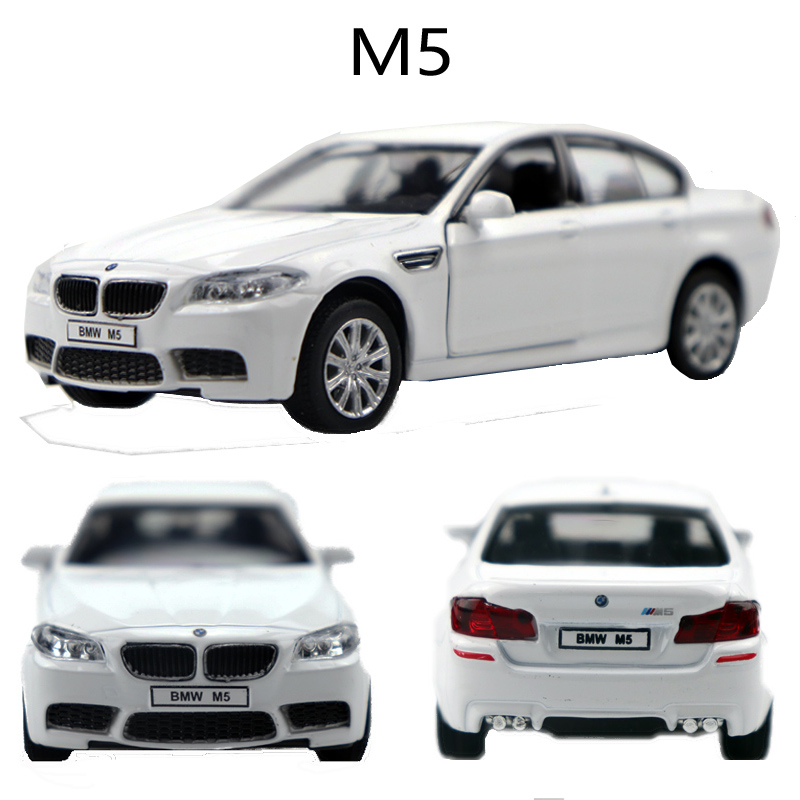 1:36 BMW M5 Alloy Pull Back Car Model Diecast Metal Toy Vehicles 2 Open-doors For Kids Gift Free Shipping