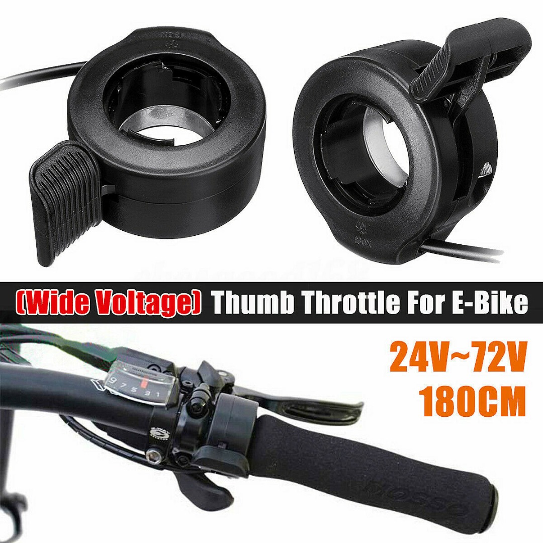 24V/36V/48V/60V/72V Thumb Throttle Speed Regulation Controler For Electric Bike Scooter Universal Accelerator Speed Controler